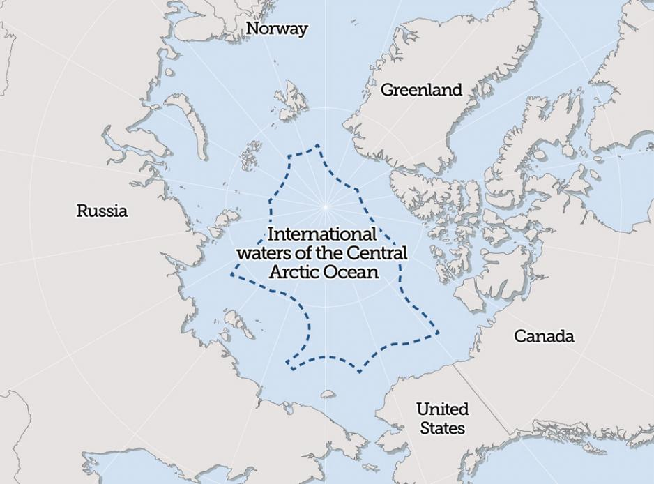 Boundaries of the Central Arctic Ocean.